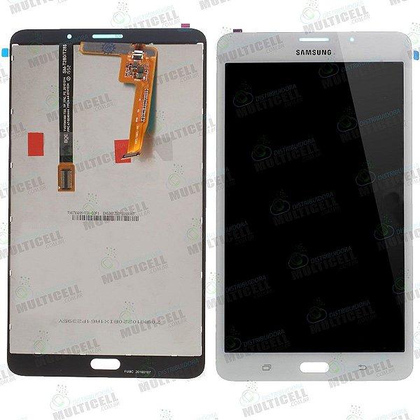 GABINETE FRONTAL DISPLAY LCD TOUCH SCREEN MODULO COMPLETO SAMSUNG T285 GALAXY TAB A BRANCO 1ªLINHA QUALIDADE AAA