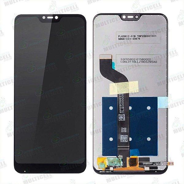 GABINETE FRONTAL DISPLAY LCD MODULO COMPLETO XIAOMI REDMI MI A2 LITE PRETO 1ªLINHA QUALIDADE AAA