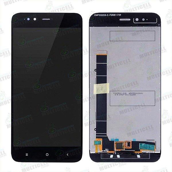 GABINETE FRONTAL DISPLAY LCD MODULO COMPLETO XIAOMI REDMI MI A1 PRETO 1ªLINHA QUALIDADE AAA