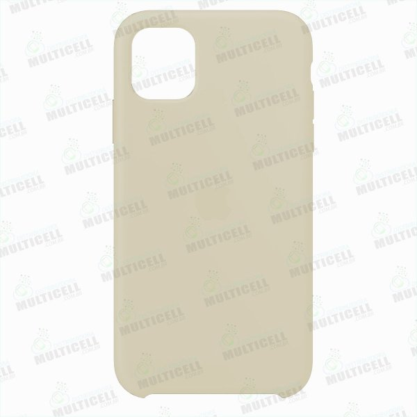 CAPA CASE SILICONE APLLE IPHONE 11 MWVX2ZM/A CREME CLARO