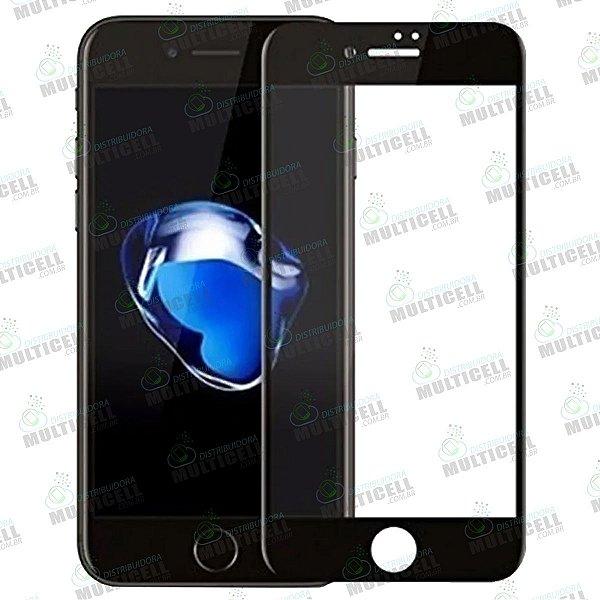 PELÍCULA DE VIDRO 3D 6D APPLE IPHONE 7 PLUS IPHONE 8 PLUS PRETA