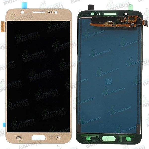 GABINETE FRONTAL LCD DISPLAY MODULO COMPLETO SAMSUNG j710 j7 METAL 2016 DOURADO (TFT COM BRILHO AJUSTAVEL)