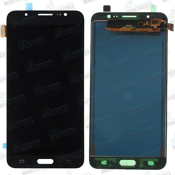 GABINETE FRONTAL LCD DISPLAY MODULO COMPLETO SAMSUNG j710 j7 METAL 2016 PRETO (COM BRILHO AJUSTAVEL)
