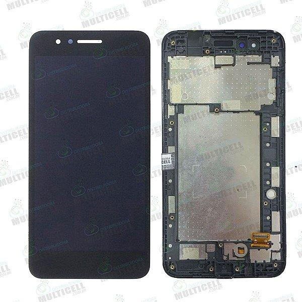 GABINETE FRONTAL DISPLAY LCD TELA TOUCH SCRENN MODULO COMPLETO X210 LG K9 PRETO 1ªLINHA QUALIDADE AAA