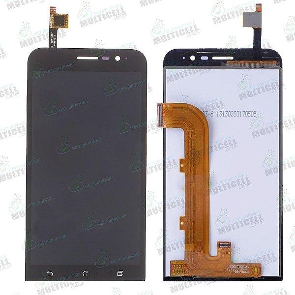 GABINETE FRONTAL DISPLAY LCD MODULO COMPLETO ASUS X00AD ZB500KL PRETO 1ªLINHA QUALIDADE AAA