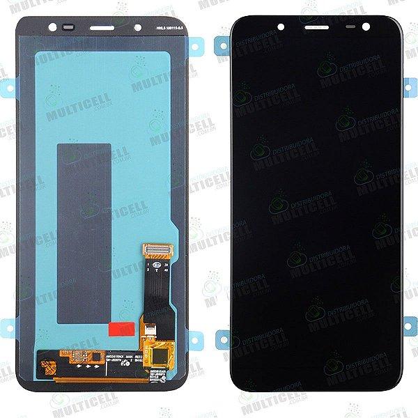 GABINETE FRONTAL LCD TOUCH SCREEN MODULO COMPLETO SAMSUNG J600 GALAXY J6 PRETO (ORIGINAL IMPORTADO OLED)
