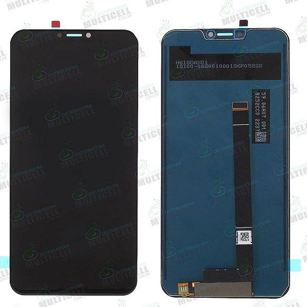 GABINETE FRONTAL DISPLAY LCD MODULO COMPLETO ASUS ZE620KL ZENFONE 5 PRETO 1ªLINHA QUALIDADE AAA