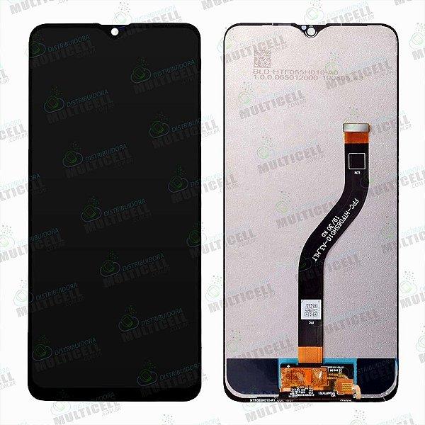 GABINETE FRONTAL DISPLAY LCD MODULO COMPLETO SAMSUNG A207 GALAXY A20s PRETO 1ªLINHA (QUALIDADE AAA)