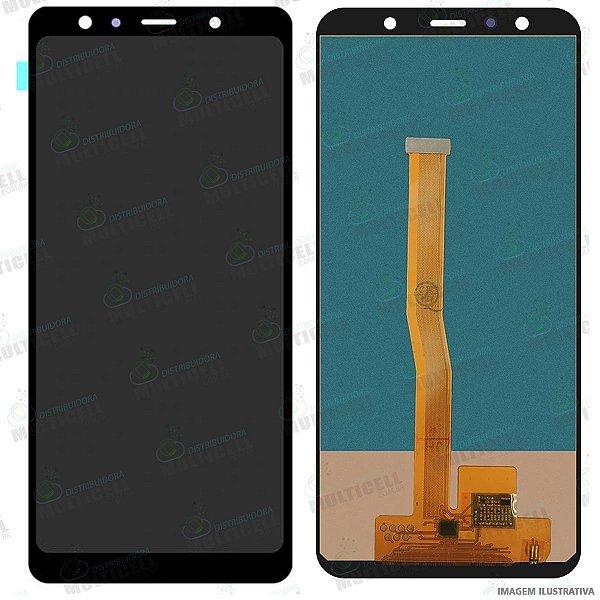 GABINETE FRONTAL DISPLAY LCD SAMSUNG A750 GALAXY A7 2018 (1ªLINHA QUALIDADE INCELL)