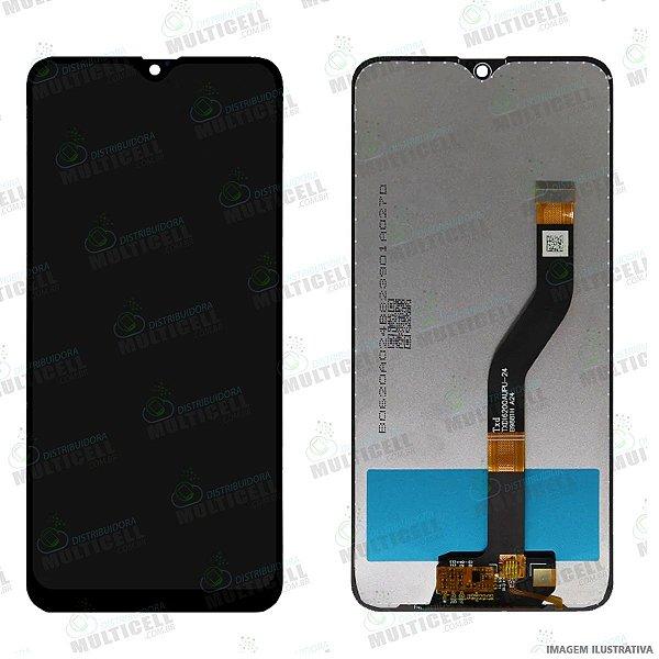 GABINETE FRONTAL DISPLAY LCD MODULO COMPLETO SAMSUNG A107 GALAXY A10s PRETO 1ªLINHA (QUALIDADE AAA)