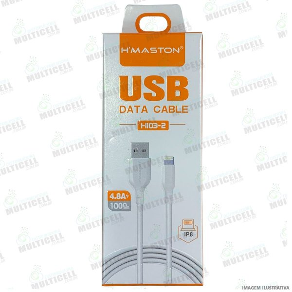 CABO MICRO USB HI03-2 MODELO LIGHTNING IPHONE H MASTON ORIGINAL