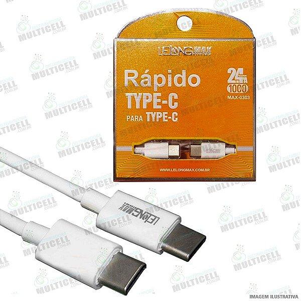 CABO USB TIPO C P/ TIPO C 2.4A 1M LELONG