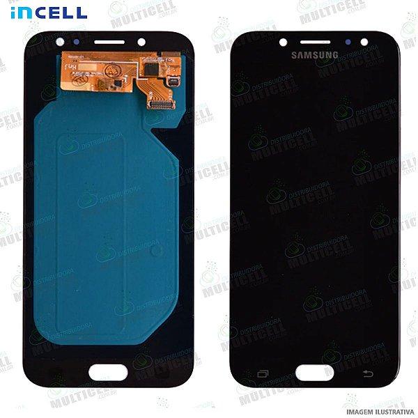 GABINETE FRONTAL DISPLAY LCD MODULO COMPLETO SAMSUNG J530 GALAXY J5 PRO PRETO (QUALIDADE INCELL)
