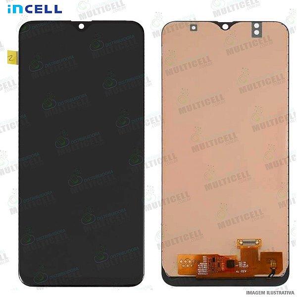 GABINETE FRONTAL DISPLAY LCD MODULO COMPLETO SAMSUNG A505 GALAXY A50 (1ªLINHA QUALIDADE INCELL)