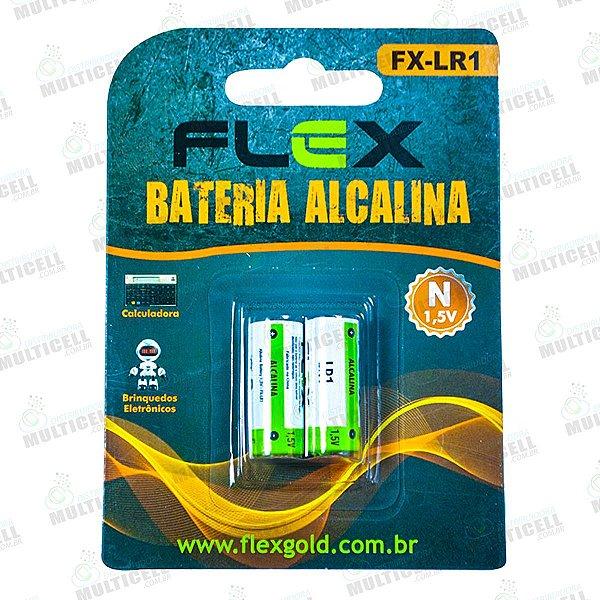 PILHA LR1 / 910A TIPO N ALCALINA FLEX BLISTER C/ 2UN