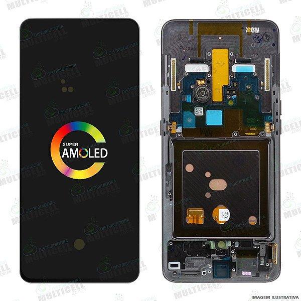 GABINETE FRONTAL DISPLAY LCD MODULO COMPLETO SAMSUNG A805 GALAXY A80 ORIGINAL NACIONAL (GH82-20348A)