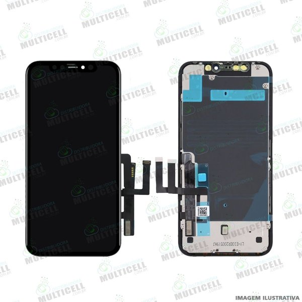 GABINETE FRONTAL DISPLAY LCD MODULO COMPLETO APLLE IPHONE 11 1ªLINHA (QUALIDADE INCELL)