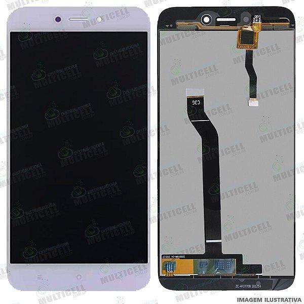 GABINETE FRONTAL DISPLAY LCD MODULO COMPLETO XIAOMI M1903C3GI REDMI GO BRANCO 1ªLINHA (QUALIDADE AAA)