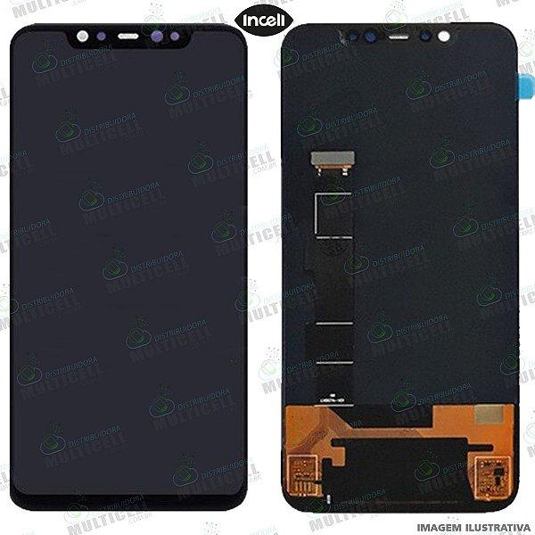 GABINETE FRONTAL DISPLAY LCD MODULO COMPLETO XIAOMI MI8 MI 8 MI-8 M1803E1A 1ªLINHA (QUALIDADE INCELL)