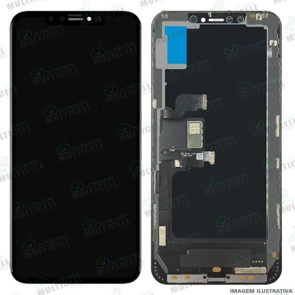 GABINETE FRONTAL DISPLAY LCD MODULO COMPLETO APPLE A1921 A2101 A2102 IPHONE XS MAX 1ªLINHA (QUALIDADE AAA)