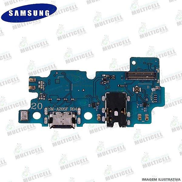 DOCK CONECTOR DE CARGA USB E MICROFONE SAMSUNG A205 GALAXY A20 ORIGINAL