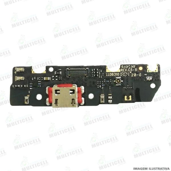 PLACA FLEX CONECTOR USB DOCK DE CARGA MICROFONE MOTOROLA XT1922 MOTO G6 PLAY ORIGINAL