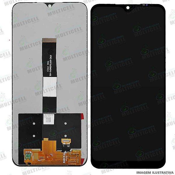 GABINETE FRONTAL DISPLAY LCD MODULO COMPLETO XIAOMI REDMI 9A / REDMI 9C PRETO 1ªLINHA (QUALIDADE AAA)