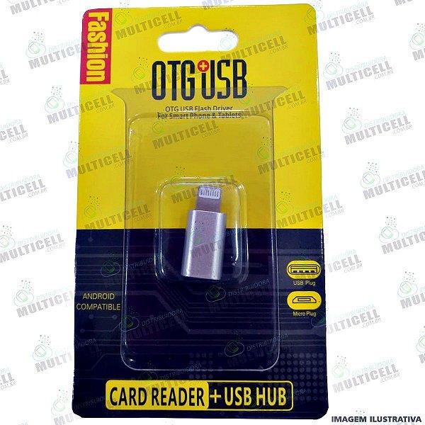 ADAPTADOR OTG USB FÊMEA P/ LIGTHNING  (IPHONE)
