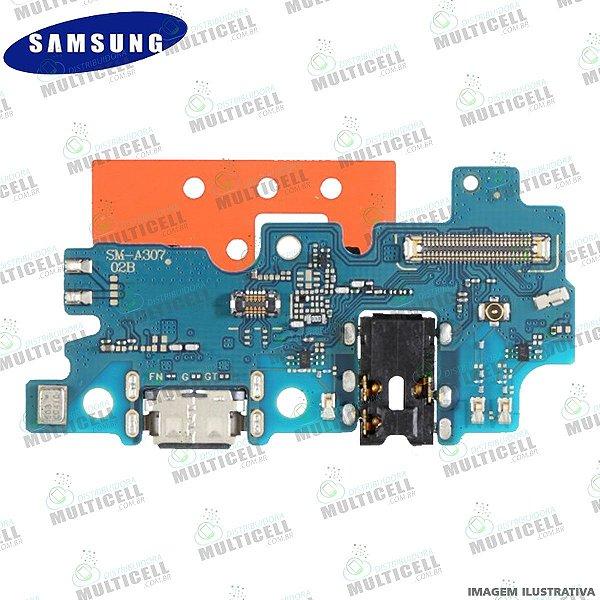 CONECTOR PLACA DOCK DE CARGA + MICROFONE SAMSUNG A307 GALAXY A30S ORIGINAL