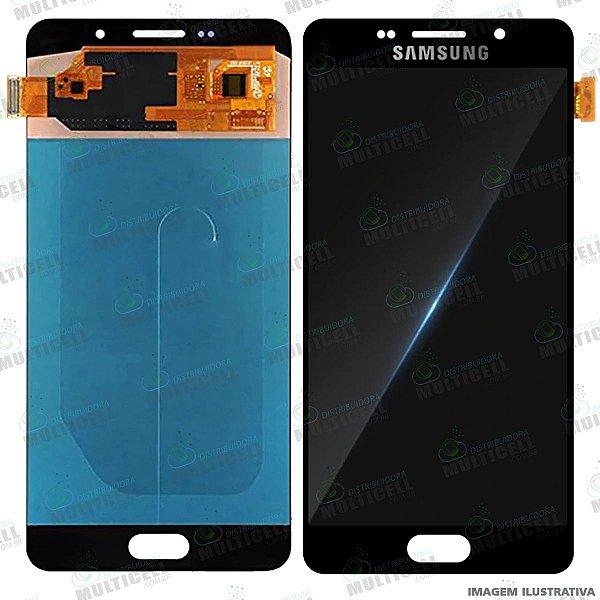 GABINETE FRONTAL DISPLAY LCD MODULO COMPLETO SAMSUNG A710 GALAXY A7 (2016) 1ªLINHA (QUALIDADE INCELL)