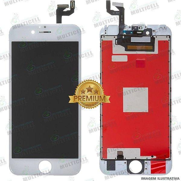 GABINETE FRONTAL DISPLAY LCD MODULO COMPLETO APPLE A1688 IPHONE 6S BRANCO 1ªLINHA (QUALIDADE PREMIUM)