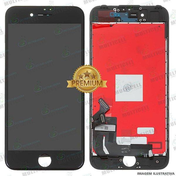 GABINETE FRONTAL DISPLAY LCD MODULO COMPLETO APPLE A1788 IPHONE 7 PRETO 1ªLINHA (QUALIDADE PREMIUM)