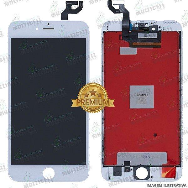 GABINETE FRONTAL DISPLAY LCD MODULO COMPLETO APPLE A1687 IPHONE 6S PLUS BRANCO 1ªLINHA (QUALIDADE PREMIUM)