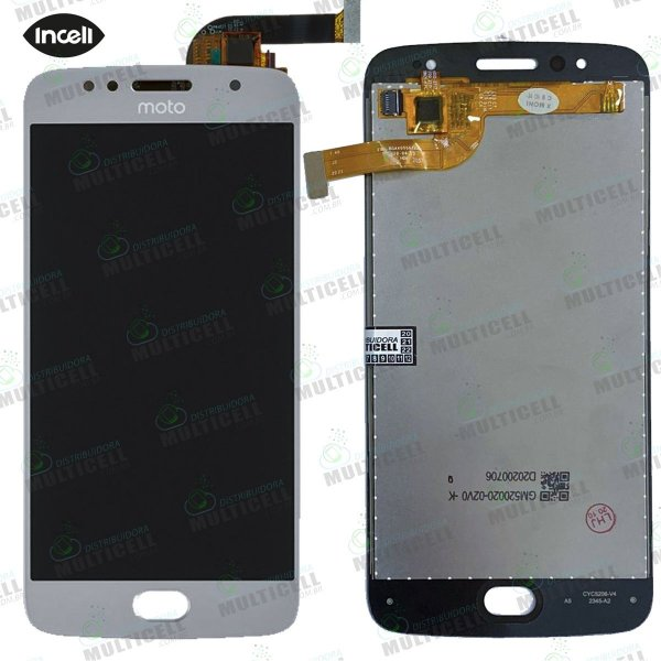 GABINETE FRONTAL DISPLAY LCD MODULO COMPLETO MOTOROLA XT1792 XT1795 XT1797 MOTO G5S PRATA 1ªLINHA (QUALIDADE INCELL)