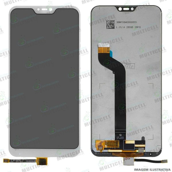 GABINETE FRONTAL DISPLAY LCD MODULO COMPLETO XIAOMI REDMI MI A2 LITE BRANCO 1ªLINHA (QUALIDADE AAA)