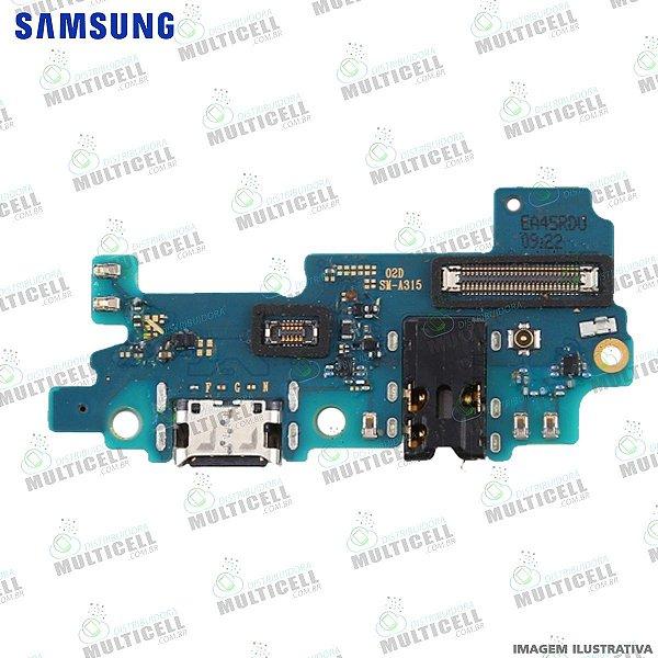 CONECTOR DOCK DE CARGA USB E MICROFONE SAMSUNG A315 GALAXY A31 ORIGINAL