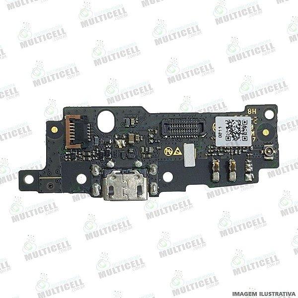 CONECTOR PLACA DOCK DE CARGA + MICROFONE MOTOROLA XT1921 MOTO E5 PLAY ORIGINAL