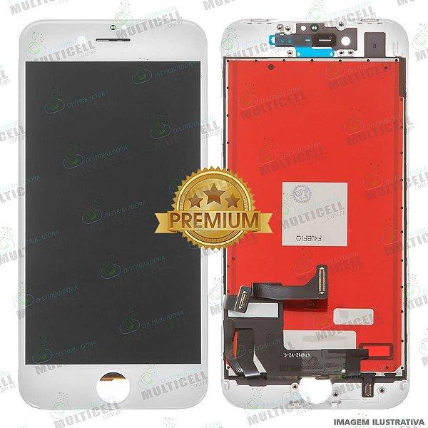 GABINETE FRONTAL DISPLAY LCD MODULO COMPLETO APPLE A1905 IPHONE 8 BRANCO 1ªLINHA (QUALIDADE PREMIUM)