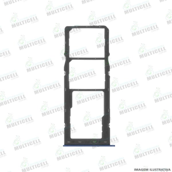 GAVETA DE CHIP BANDEIJA SIM CARD SAMSUNG A107 GALAXY A10s / A207 GALAXY 20s AZUL ORIGINAL