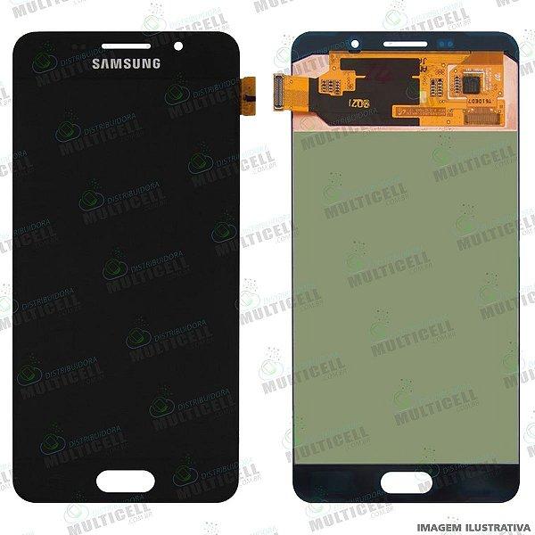 GABINETE FRONTAL DISPLAY LCD MODULO COMPLETO SAMSUNG A710 GALAXY A7 (2016) ORIGINAL CHINA (QUALIDADE OLED)