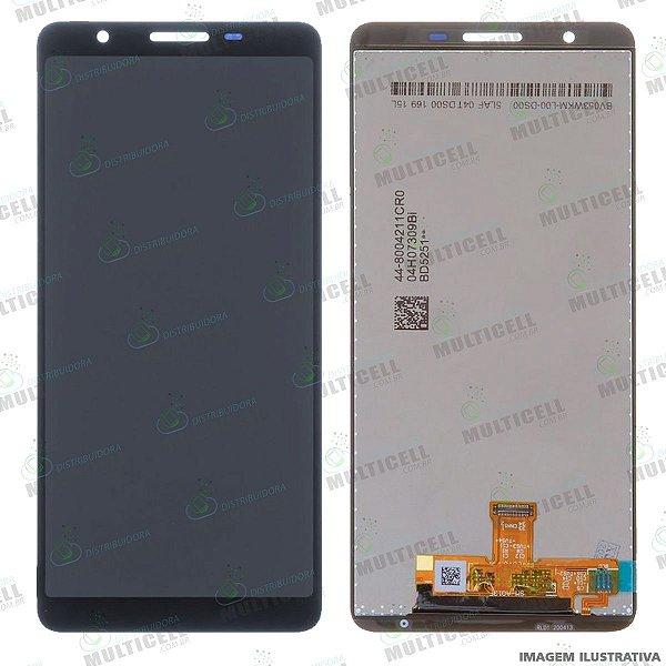 GABINETE FRONTAL DISPLAY LCD MODULO COMPLETO SAMSUNG A013 GALAXY A01 CORE ORIGINAL CHINA (SEM ARO)