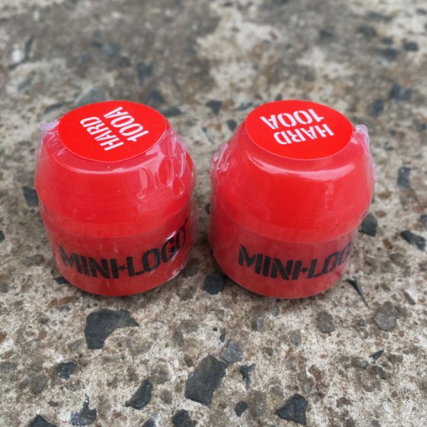 Amortecedor Bushing Mini Logo Hard Pair Red 100a Massa Skate Shop