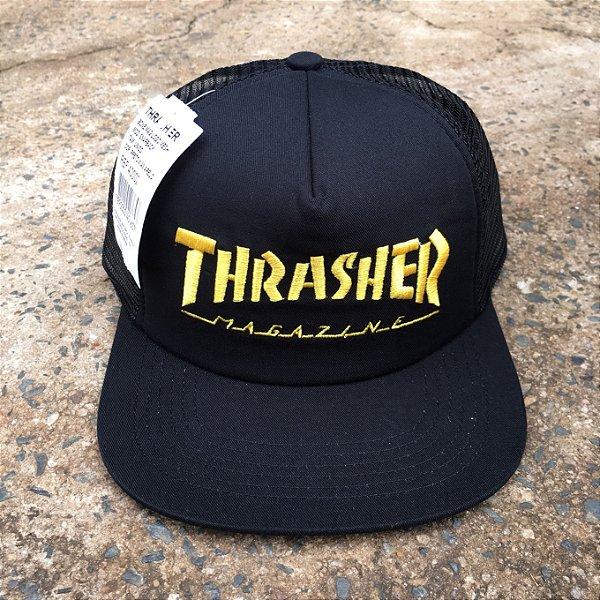 BONE THRASHER MAG LOGO MESH HAT - MASSA Skate Shop b905492787e