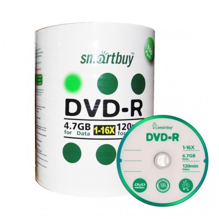DVD Smartbuy logo tubo com 100 Unidades