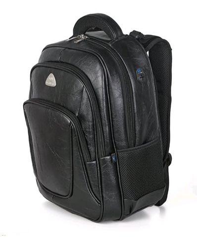 Mochila world bags Notebook Impermeável Couro Preto