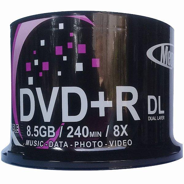 Mídia DVD DL 8.5GB 1-8x Printable Mega Innovation - 50 Unidades