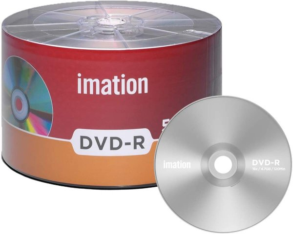 Midia dvd-r 16x  4.7gb 120min Com Logo Imation 50 Uni