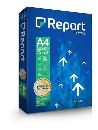 Papel Sulfite Report Premium Suzano A4 75 g/m² - Pacote 500fls