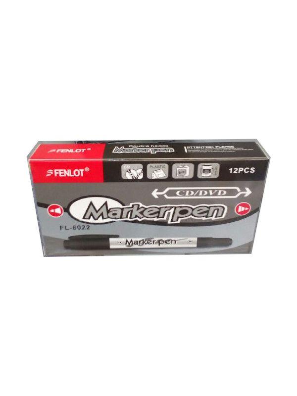 Marcador Para CD/DVD Markerpen cx com 12 Unidades