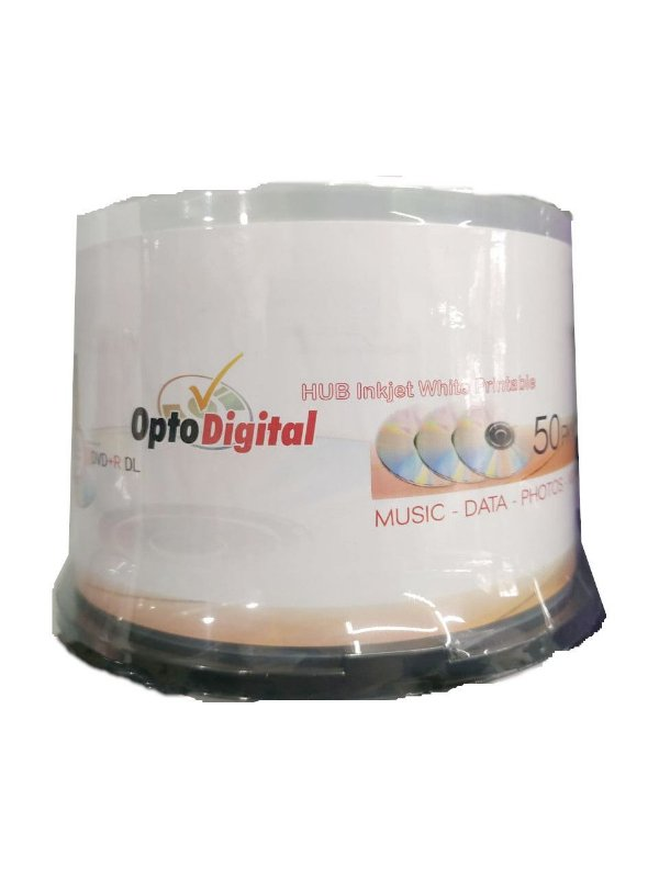 Mídia DVD+R 8.5GB 8X Dual Layer Printable - Opto Digital - 50 Unidades